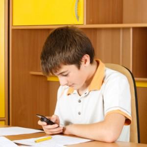 Boy texting