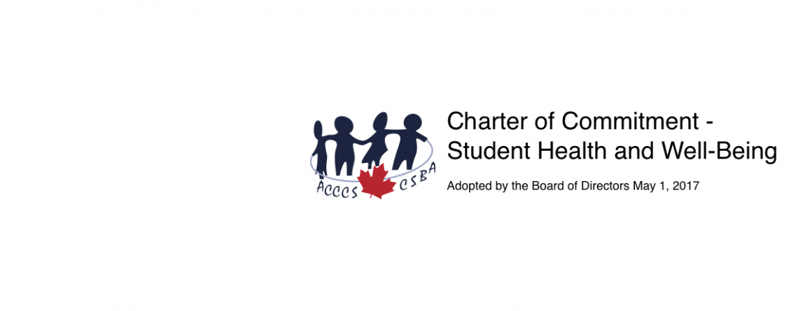 Charter of Commitment –  Student Health and Well-Being